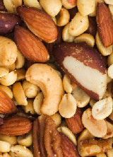 NUTS ~ Net Carbs per Ounce (Lowest to Highest): Pecans=1.2 • Brazil=1.3 • Macadamia=1.6 • Walnuts=1.9 • Hazelnuts=2.0 • Coconut=2.0 • Brazil=2.1 • Peanuts=2.1 • Almonds=2.7 • Pine Nuts=2.7 • Sunflower Seeds=3.2 • Pumpkin Seeds=3.9 • Pistachios=5.8 • Cashews=8.1 • Chestnuts=10.5 (more at link)