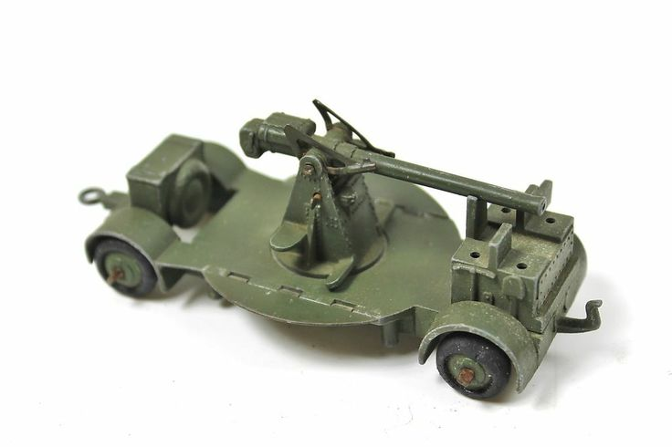 Toy Army Cars : Dinky toys b anti aircraft gun on trailer vintage