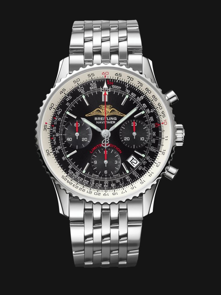 In tribute to the legendary Navitimer AOPA from the 1950s, Breitling has created a limited series with a dial and caseback adorned with the association's logo. 7'655.00 USD