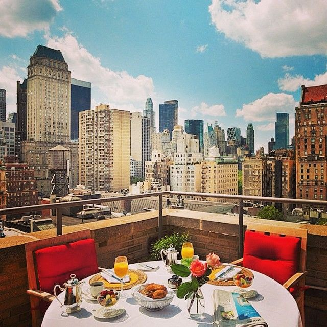 New York City abounds with cool rooftop bars. Photo courtesy of behindthescenesnyc on Instagram. | Repinned by @emilyslutsky
