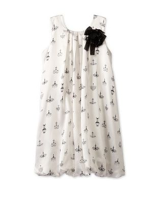 45% OFF US Angels Girl's Bubble Dress with Flower Corsage (Ivory)