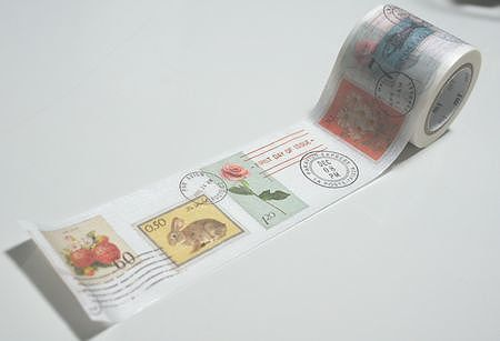 Kawaii Stamp  - Japanese Washi Masking Tape - mt ex - Scrapbooking, Collage, Gift Wrapping -  MTEX1P27