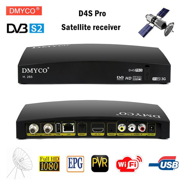 Original D4s Pro Dvb S2 Hd Satellite Receiver Fta Satellite Tv Receptor D4s Pro Decoder Full Hd 1080p H 265 Mpeg 5 Pvr Satellite Receiver Satellite Tv Ku Band