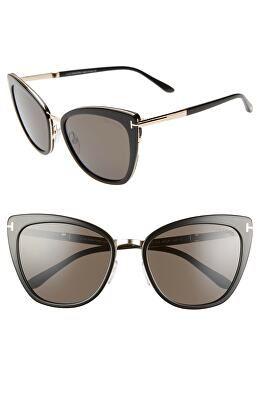 82114a8eebd4 TOM FORD Designer Simona 56mm Sunglasses