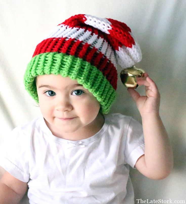 Knitting Patterns For Baby Elf Hats : Christmas Elf Hat. Knit hat. Photos Pinterest