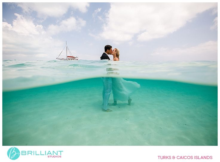 Underwater Trash the wedding dress. Turks and Caicos Islands, Brilliant by Tropical Imaging photography
