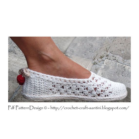 White Lace Espadrilles Toms  Crochet Pattern  by PdfPatternDesign, €5.00