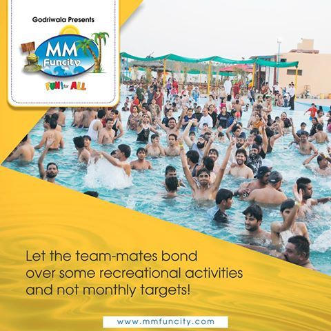 Picnics are a fun-filled way to come together! Plan your next corporate #picnic at MM Funcity and let the team-mates bond over some recreational activities and not monthly targets! For More: https://goo.gl/Su9dWZ #MMFunCity #Chhattisgarh #WaterPark #MakeMemories