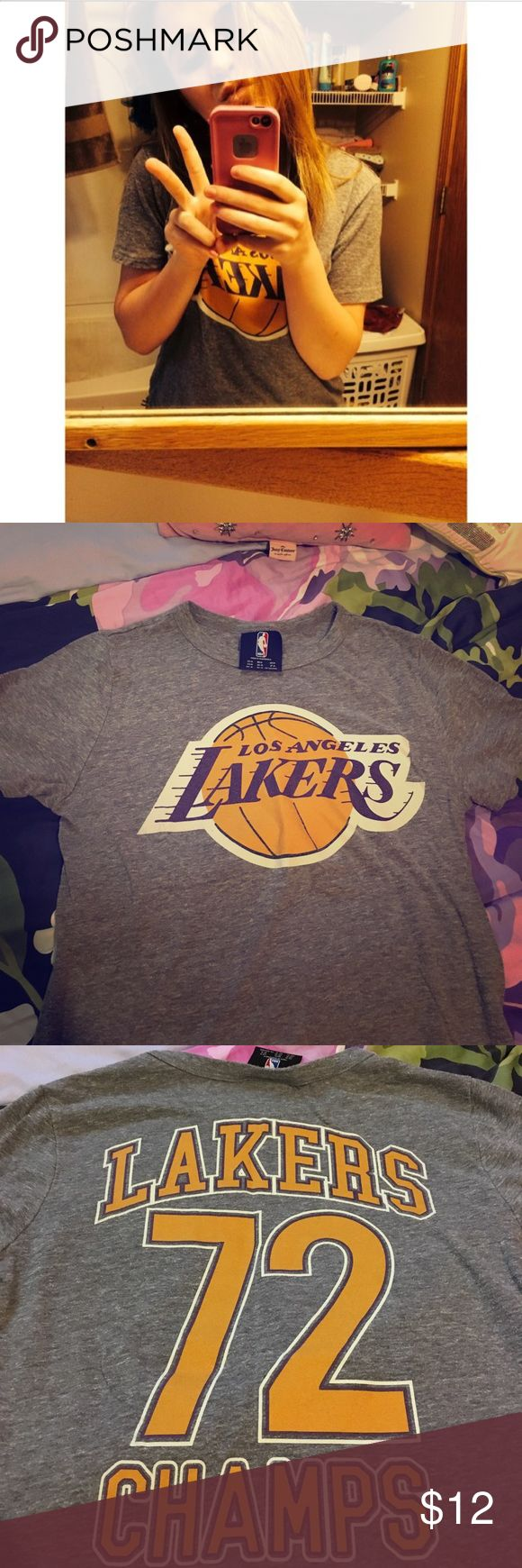 Forever 21 Lakers T-Shirt Size medium laker t shirt. Has front and back designs. In good condition- no rips or discoloration. Forever 21 Tops Tees - Short Sleeve