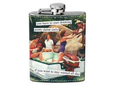 wasted all day hipflask