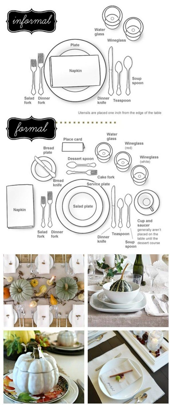 How to Set a Formal or Informal Table | Follow this easy diagram for setting your holiday table. TodaysCreativeLife.com