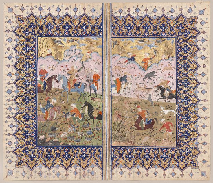 Hunting scenes Persian Safavid 1578 (A.H. 982) Object Place: Iran