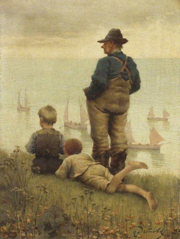 """The Old Fisherman"", Hanry Detmold"