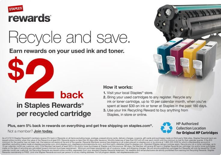 Staples Inkjet Ink Cartridge Recycling Program Change in Rules and Requirements