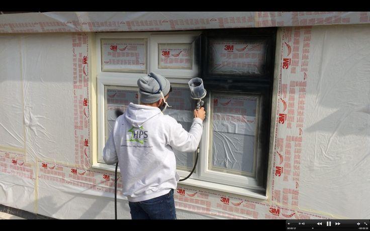 Painting PVC coloured windows