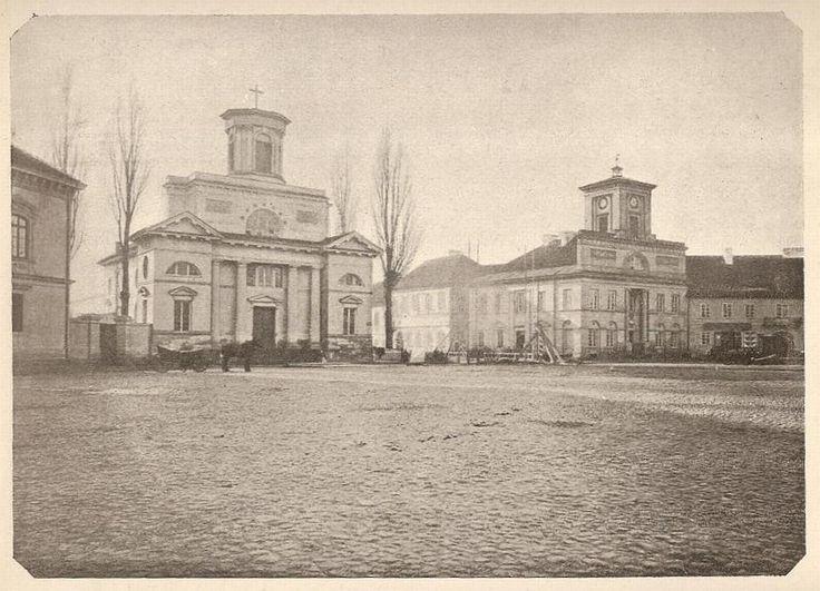 pl. Wolności (Nowy Rynek, Freiheitsplatz, Deutschlandplatz), Łódź - 1880 rok, stare zdjęcia