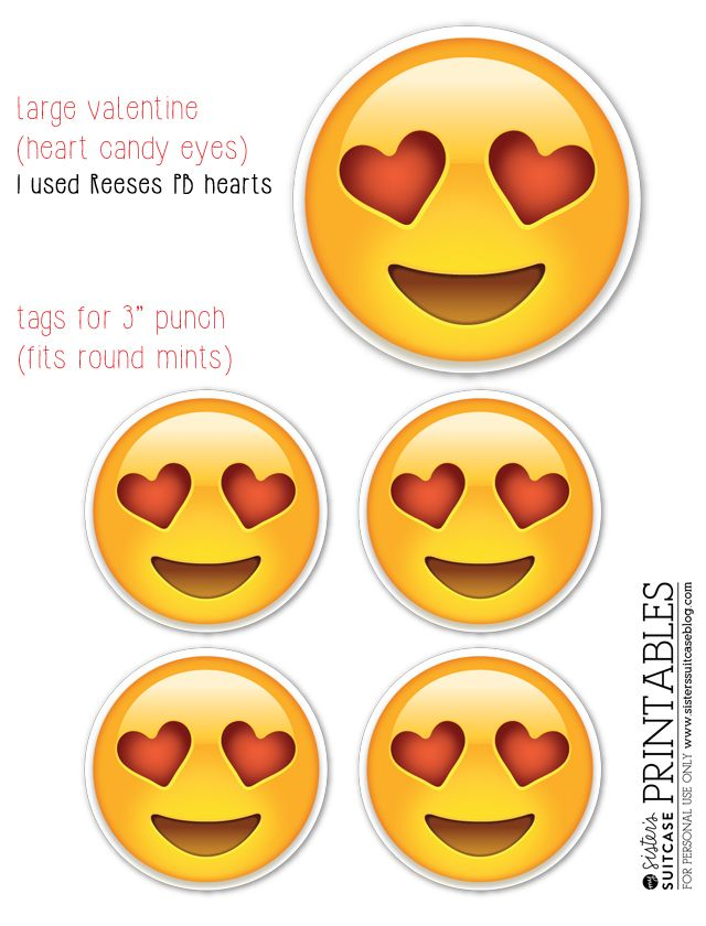 A few weeks ago, I posted someEmoji valentine printables. I am using these for my boys' class valentines this year, so I put together a few ideas for treats that you could give out with the cards.I also created a new pdf with the heart face emoji that you can use as round tags! I …