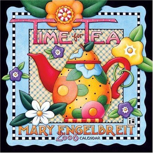 cover: Mary Engelbreit Time for Tea 2000 Calendar ... colourful teapot art, USA
