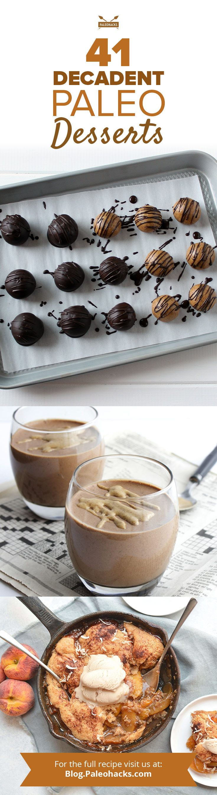 We scoured our favoritePaleo blogs and some PaleoHacks  originals for the best paleo desserts– cupcakes, cookies, brownies, ice  cream, and custard. Get all the recipes here: http://paleo.co/41paldess