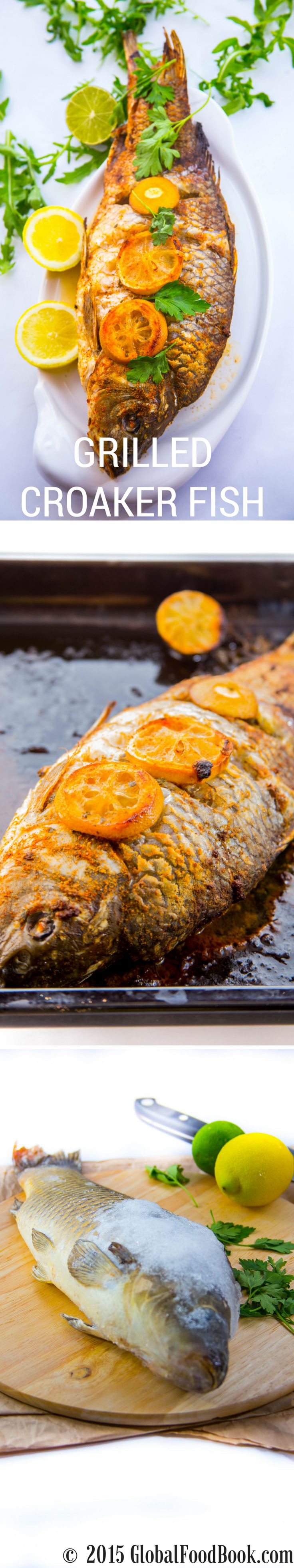 Healthy spicy grilled croaker fish katalog pinterest for Croaker fish recipe