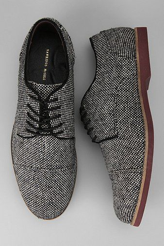 Must have: black and white wool oxfords.