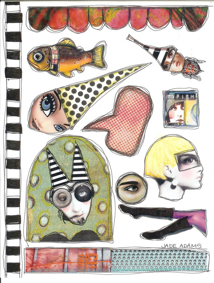Free collage sheets. #art #collage
