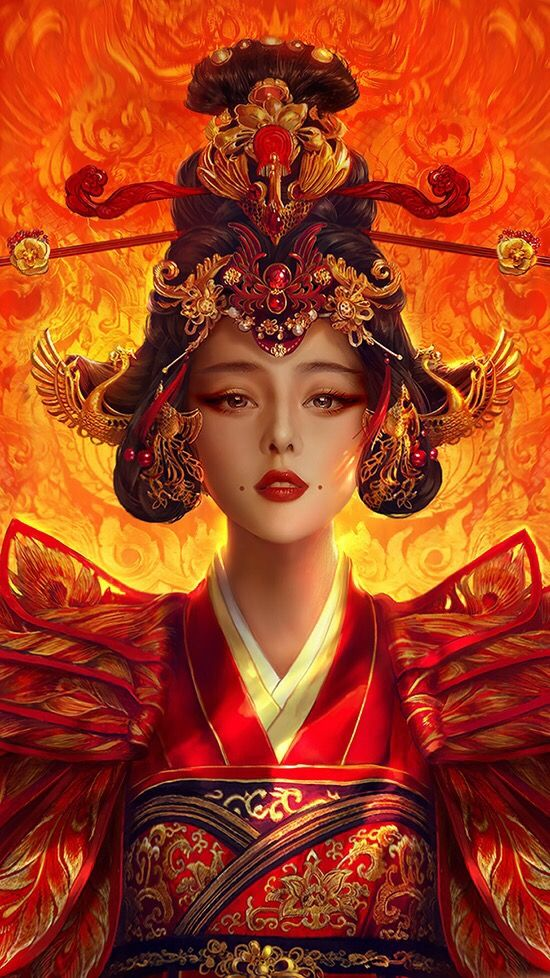 Asian art The Empress of China, available in full body! | Cfensi