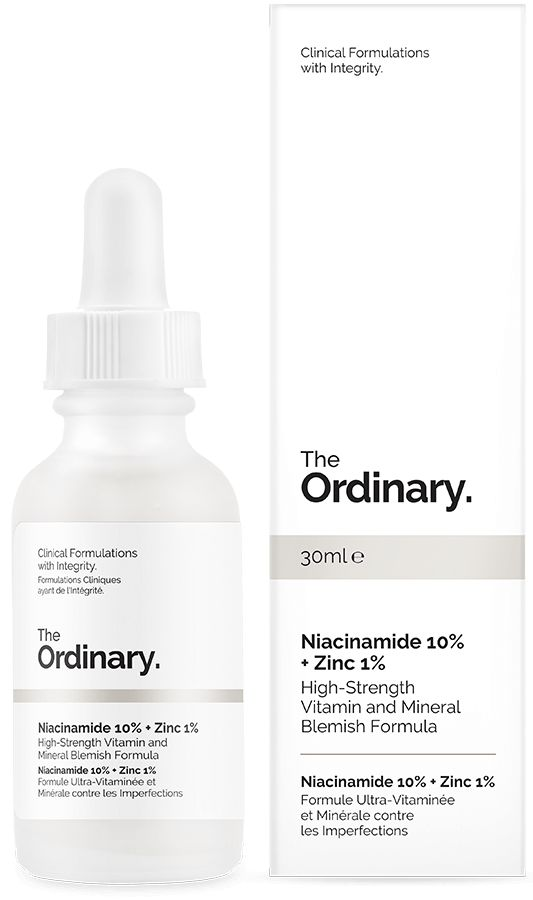 £5 - Niacinamide 10% + Zinc 1% - Niacinamide (Vitamin B3) is indicated to reduce the appearance of skin blemishes and congestion. A high 10% concentration of this vitamin is supported in the formula by zinc salt of pyrrolidone carboxylic acid to balance visible aspects of sebum activity.   Contraindications: If topical Vitamin C is used as part of skincare, it should be applied at alternate times with this formula (ideally Vitamin C in the PM and this formula in the AM).