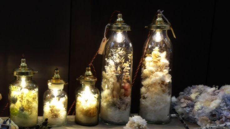 m.soeur (エムスール)フラワーボトルライト (クリア/大) (LED/置き型) - ウエディングドレスやアクセサリー、ブーケの通販 Cli'O mariage Online Store(クリオマリアージュオンラインストア)