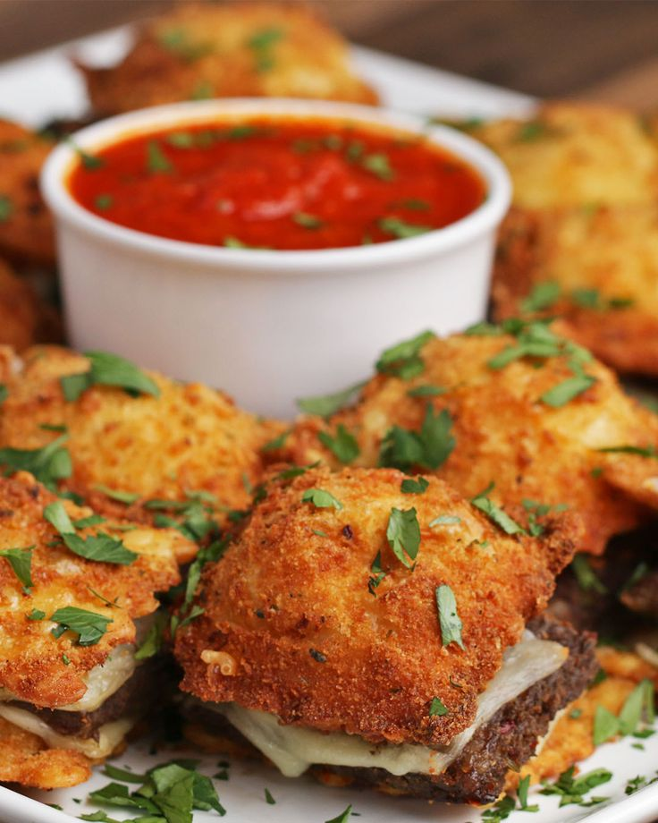 Fried Ravioli Sliders Recipe by Tasty