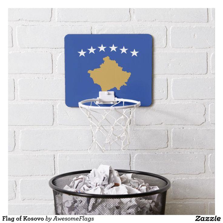 Flag of Kosovo Mini Basketball Hoop