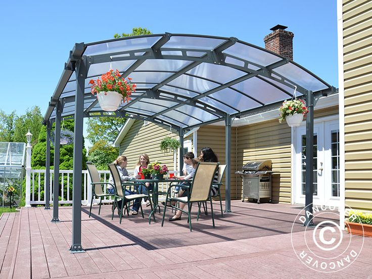 CARPORT ARCADIA, 3.62X5.02 M, GREY A very high quality carport in a plain, modern design. The detached and sturdy carport protects your car effectively against snow, rain, hail and falling leaves etc.