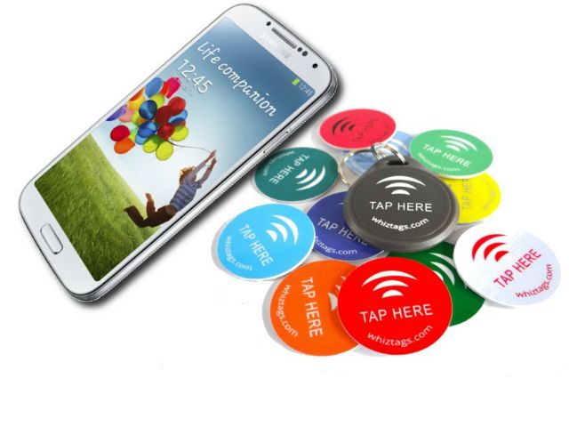 NFC is a short-range, low-powered link that allows transfer of small amounts of data between 2 devices that are placed close together. NFC can be used by e-wallet apps to easily transfer money or make quick electronic payments. It can also be used to make quick setup changes on a smart phone. To do this, we need NFC tags that can be programmed to do all kinds of cool tricks with your phone.