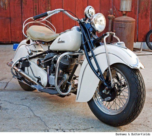 """""""1940 Indian chief motorcycle"""" True, classic, Indian style. One of our favorites here! Thanks for sharing! -Larry & Dee Blackman, LDJ Auto Body & Customs http://www.ldjautobody.com/motorcycle-paint-body/"""