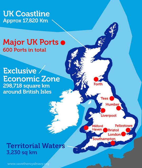 UK Coastline, Territorial Waters and Exclusive Economic Zone, via Flickr. See: http://www.savetheroyalnavy.org/wordpress/the-royal-navy-and-the-growing-importance-of-securing-uk-home-waters