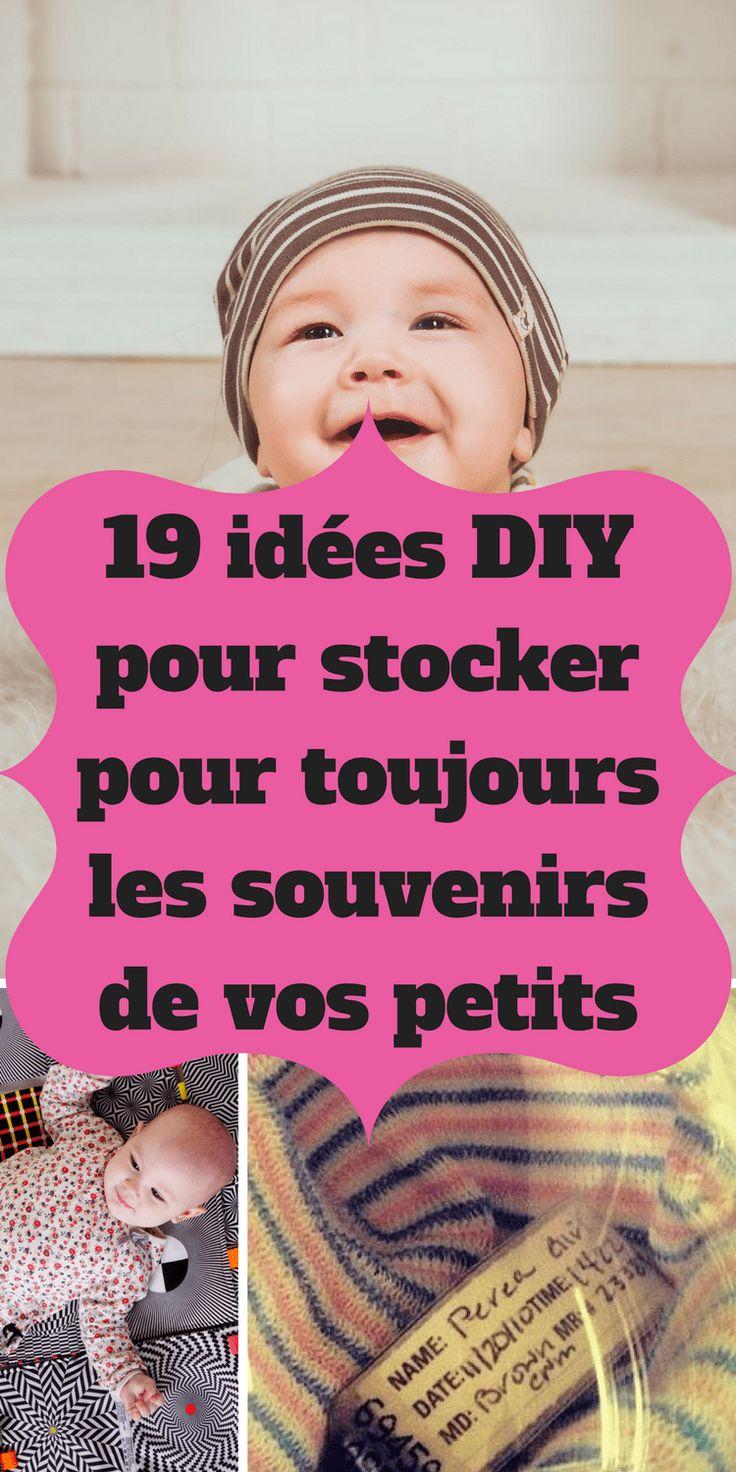 19 idées DIY pour stocker pour toujours les souvenirs de vos petits