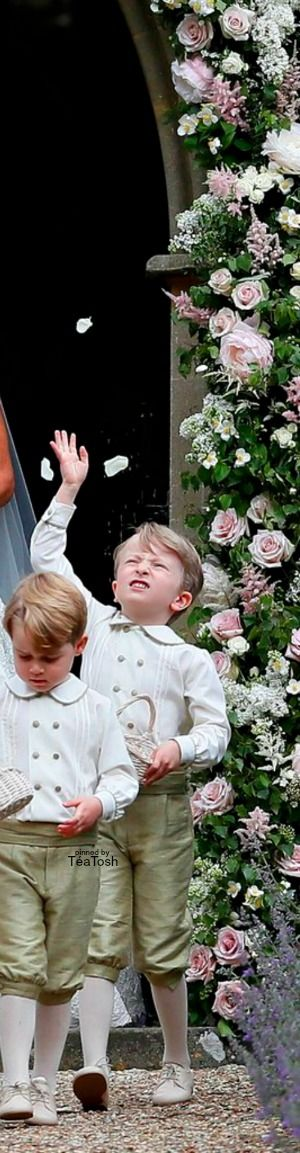 tea tosh prince george pippa middletons stunning wedding