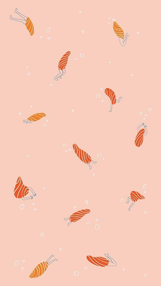 #일러스트 #illust #illustration #illustrator #일상 #데일리 #daily #드로잉 #drawing #draw #디자인 #design #그래픽디자인 #graphicdesign #연어 #손그림 #salmon #패턴디자인 #pattern