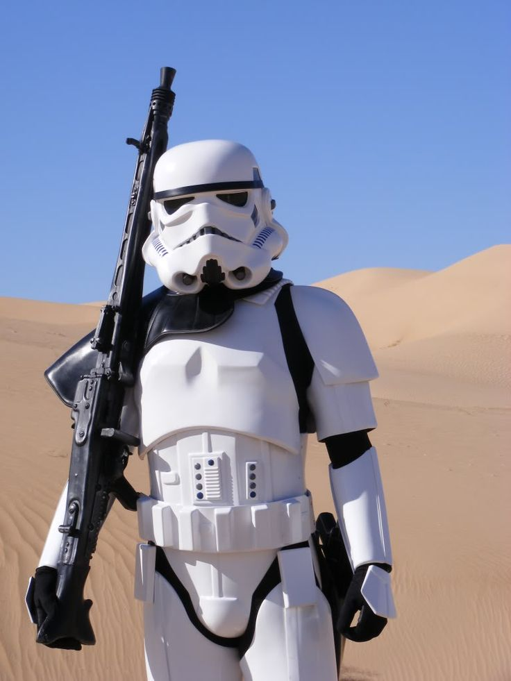 For Natalie, this is a Storm trooper, lol, this was walking along Argyle Street on Monday morning...
