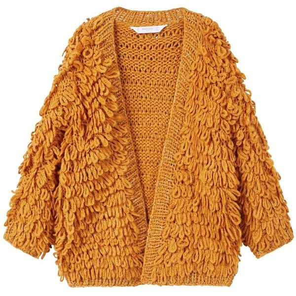 Mango Girls Metallic Knitted Cardigan ($32) ❤ liked on Polyvore featuring tops, cardigans, mango cardigan, metallic top, mango tops, cable cardigans and yellow top