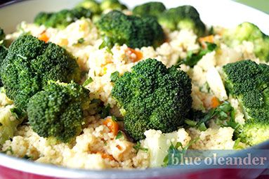 Cuscus with broccoli