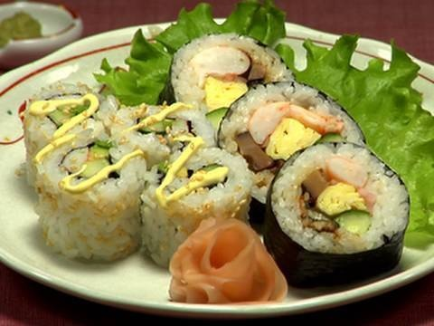 How to Make Futomaki Sushi & California Roll Instructional Video