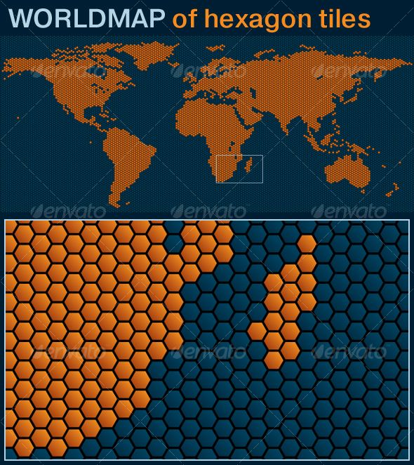 25 best tiled cartography images on pinterest cartography search world map of hexagon tiles gumiabroncs Gallery