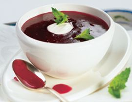 Cranberry soup.  Someone made  blueberry soup for me when I was sick with the flu. The best comfort food!  I bet this is just as good!