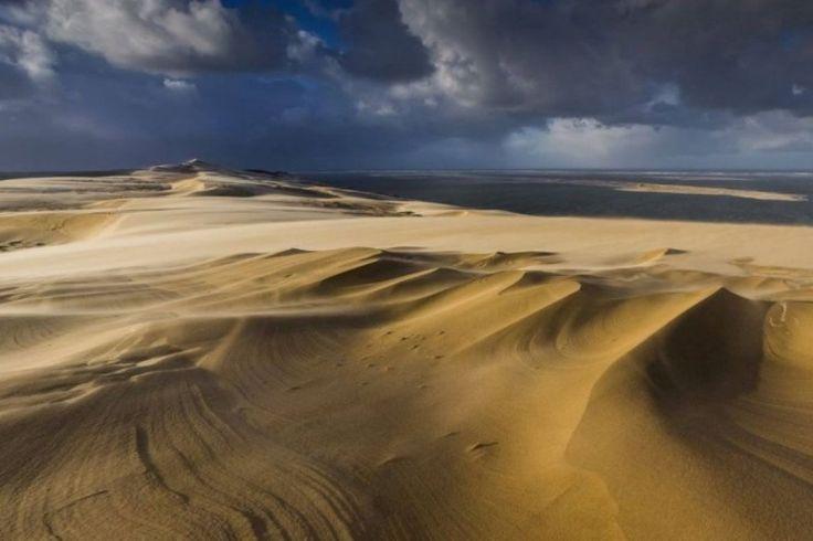 Bassin d'Arcachon : les magnifiques images de la dune du Pilat, Pyla, sculptée par les tempêtes, Aquitaine, France