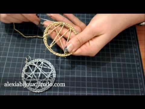 DIY - tutorial orecchino a cerchio uncinetto argento -oro gioielli fai da te facile e semplice - YouTube