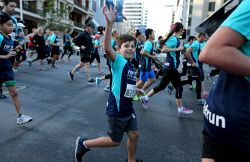 TWA-0045139 © WestPix Participants in this year's HBF Run For A Reason in Perth today, Sun'. PICTURE: NIC ELLIS   THE WEST AUSTRALIAN