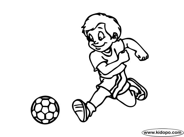 free boy soccer player 10 printable and online coloring page - Girl Soccer Player Coloring Pages