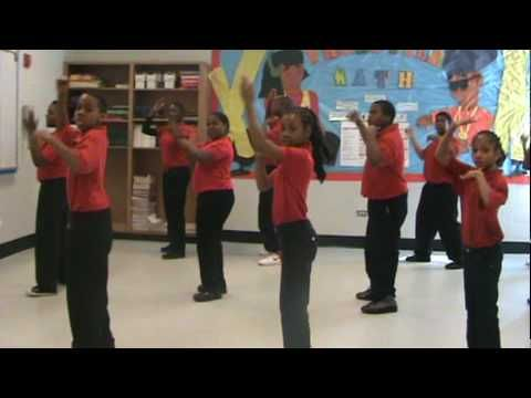 Math Class Dancing to the Area of a Circle!.MPG