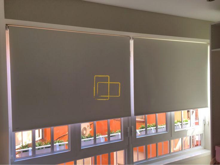 Cortinas enrollables con tejido opaco #solart #cortinas #opacas #foscurite #habitacion